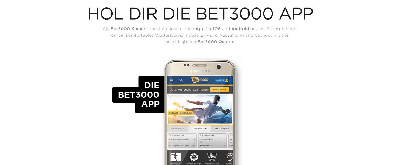 Mobile Bonuses und Zahlungsmethoden auf Bet3000 live
