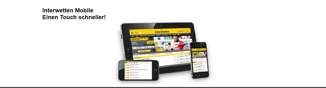 Interwetten mobile app: Bonuses