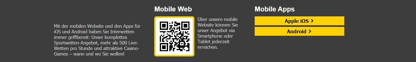 Interwetten app Installation und download