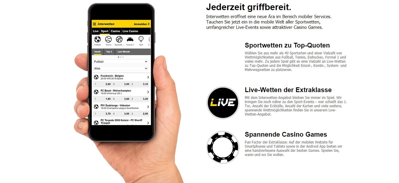 Wie funktioniert Interwetten mobile app