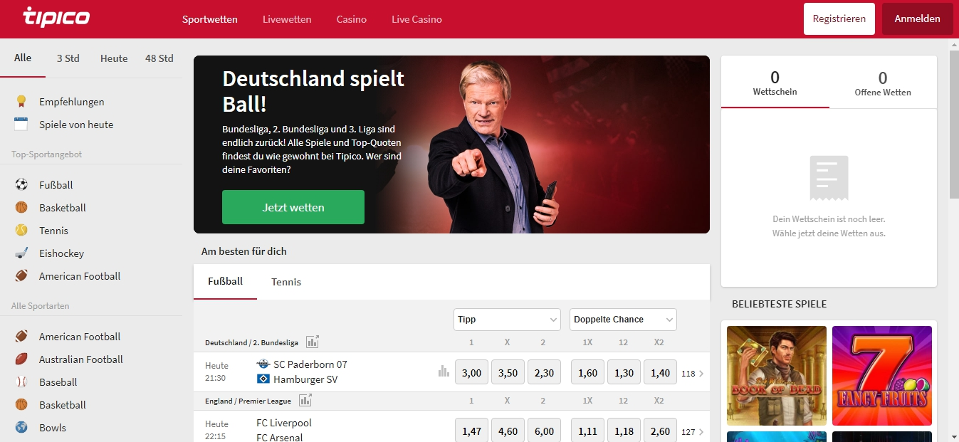 Tipico Deutschland Gebrauchsanweisung von Sportwetten